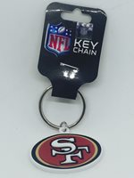 NFL San Francisco 49ers 3D Flexible logo Keychain
