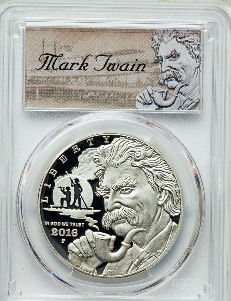 2016 W Mark Twain Gold Commemorative First Strike Mark Twain Label $5 PR69DCAM P