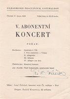 JOSEF DOLEZAL Violinist & Composer signed program, Czech Radio Symphony, 1949