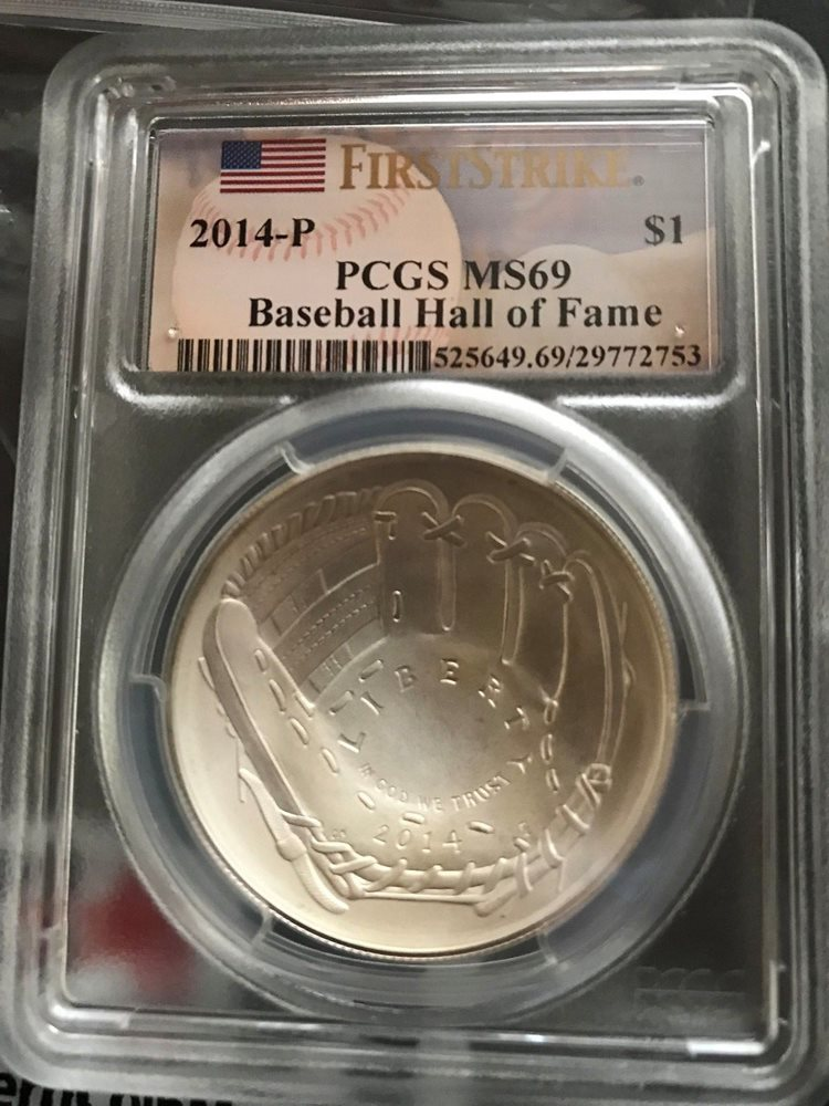 2014-P Baseball Hall of Fame HOF Commemorative Dollar MS-69 PCGS First Strike