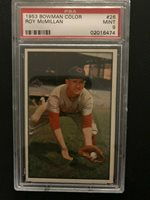 1953BowmanRoyMcMillan26PSA 9Reds