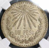 1927 NGC MS 64 MEXICO Key Date Silver Peso Choice BU Coin (18090401CZ)