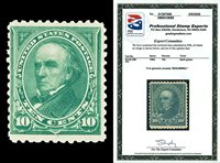 Scott 258 1894 10c Webster Unwatermarked Issue Unused Fine RG Cat $275 PSE CERT