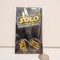 "PACK OF ""SOLO A STAR WARS STORY"" OPENING NIGHT FAN EVENT PINS"