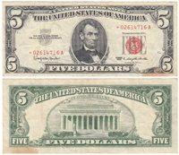 """1963 $5 FR-1536* """"STAR"""""""