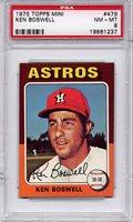 1975 Topps Mini Ken Boswell #479 PSA 8