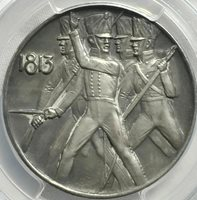 German States 1913 Prussian Medal of Leipzig PCGS SP62 Matte Ag 1 of only 5 made