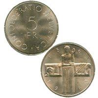 1963 Switzerland Silver 5 Francs (BU)1963 Switzerland Silver 5 Francs (BU)