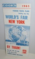 1964 65 NYWF NEW YORK WORLD'S FAIR COOK'S PRR PENNSYLVANIA RAILROAD TRAVEL GUIDE