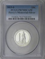 2013-S Silver America the Beautiful Perry's Memorial (OH) Quarter PCGS PR70DCAM