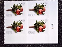 2017USA #5199 Forever - Celebration Boutonniere - Plate Block of 4 - Mint NH