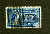 US Stamps # E2 10c Special Delivery SUPERB USED Large Stamp Scott Value $45.00