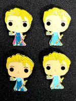 LITTLE LEAGUE PIN: FROZEN LITTLE LEAGUE PIN SET (4 PINS 1.5 INCH) ELSA