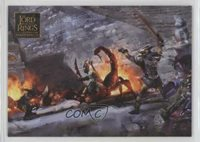 2006 Topps Lord of the Rings Masterpieces EA Paintings Deadly Encounter #58 5f7