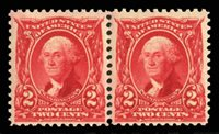 United States1902-31902 2c carmine, horizontal pair, never hinged