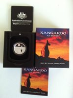 2012 $1 KANGAROO AT SUNSET SILVER PROOF COIN