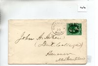 United States - (46) Commercial Cover - ? - pmk Greenfield Mass.