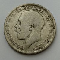 1920 Great Britain .500 Silver 1 One Florin