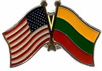 USA American Lithuania Friendship Flag Bike Motorcycle Hat Cap lapel Pin