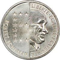 France, Fifth Republic Nickel Essai 10 Francs, 1986, Robert Schu...