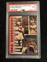 1993 Fleer NBA Superstars Clyde Drexler #4 Portland Trail Blazers PSA 9 MINT