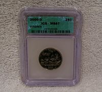 2000 D Virginia State Quarter ICG MS67 - Uncirculated Coin