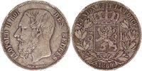 Pièce Belgique 5 Francs Léopold II - Armoiries - 1869
