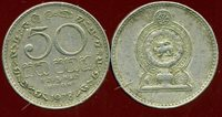 SRI LANKA 50 cents 1978 ( etat )