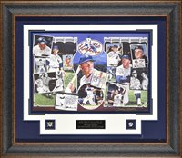"""New York Yankees """"Mickey Mantle"""" Framed Autograph 38x33x2 by JSA"""