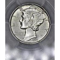 10c Cent Dime 1941 MS63 PCGS frosty lt gld hue