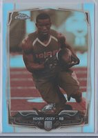 2014 TOPPS CHROME SEPIA REFRACTOR RC #112 HENRY JOSEY EAGLES /99 GEM MINT
