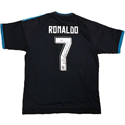 best loved 65029 c7598 Cristiano Ronaldo Signed Real Madrid Jersey PSA/DNA COA Blue