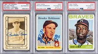 1958-1980s Topps and Cramer Hall of Famers Signed Cards Trio (3 Different) – All PSA/DNA-Authenticated