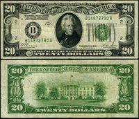 FR. 2052 B $20 1928-B Federal Reserve Note New York B-A Block Fine+ DGS