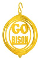 SWEN Products NO DAKOTA STATE NDSU BISON GO BISON Tini Swirly Metal Wind Spinner