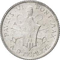 Vatican, Paul VI, 2 Lire 1967, KM 93