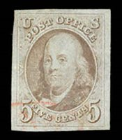 1 Light red cancel on a four margined example. VF/XF. 2019 PFC $425.00