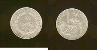 French Indochina 10 centimes 1923 AU