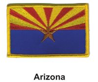 """ARIZONA STATE FLAG EMBROIDERED PATCH - IRON-ON - NEW 2.5 x 3.5"""" FREE SHIPPING"""