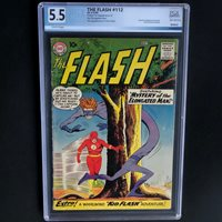 THE FLASH #112 (DC 1960)  5.5 OW-W PGX  1ST APPEARANCE OF ELONGATED MAN!