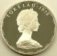 Tokelau, 1 Dollar, TAHI TALA 1978 Pineapple Tala Crown Silver Coin