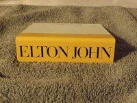 Cassette shelf talker from Geffen Records for Elton John