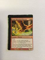 MTG Magic Miscut Misprint Foil Flame-Wreathed Phoenix x1 Born of the Gods NM-