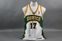 Kenny Anderson Game Used/Worn Sonics Jersey