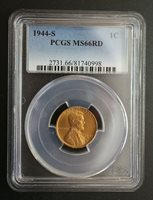1944 S Lincoln Wheat Cent PCGS MS 66RD 005