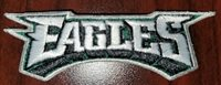 """Philadelphia Eagles NFL Patch for front of jersey 1"""" x 3.5"""" Iron or Sew"""