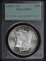 1882-CC $1 MS64DMPL PCGS