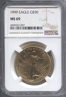 1999 $50 Modern Gold Eagle NGC MS69 Modern Gold Eagle