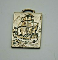 JAPANESE FLAT AKITA SILVER COIN - NICE SHIP - VERY RARE ? VERY COOL FIND !