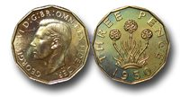 EM464 - Great Britain, George VI (1936-1952), Proof Brass Threepence, 1950